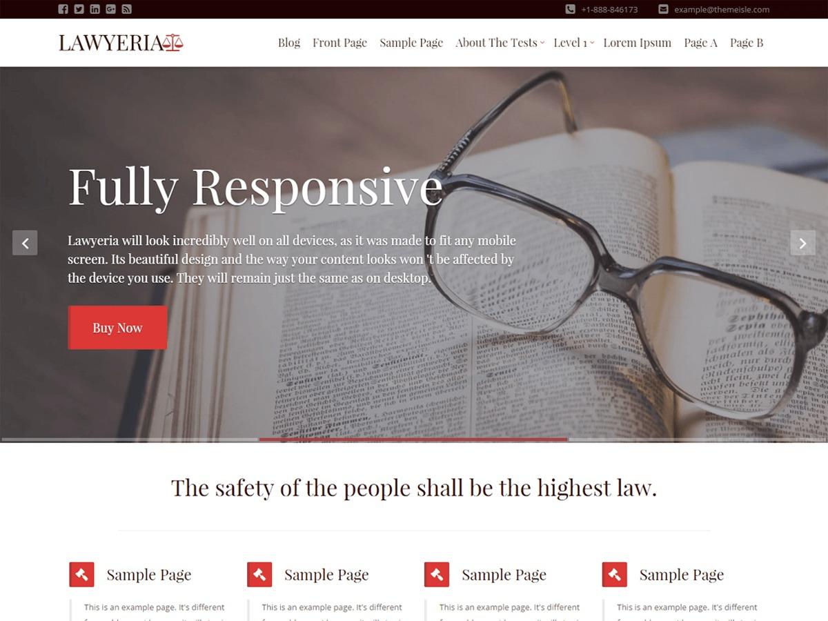 LawyeriaX company WordPress theme