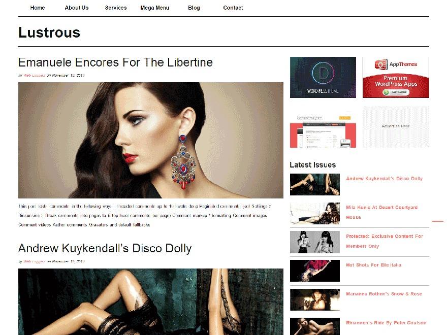Lustrous WordPress magazine theme