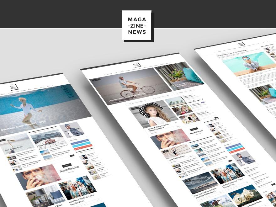 MagazineVibe WordPress news template