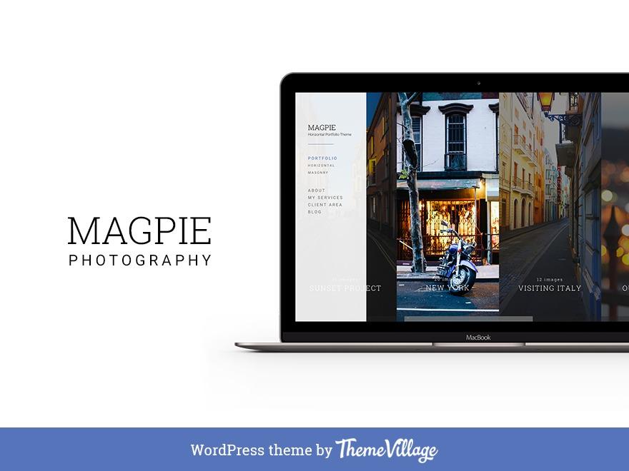Magpie wallpapers WordPress theme