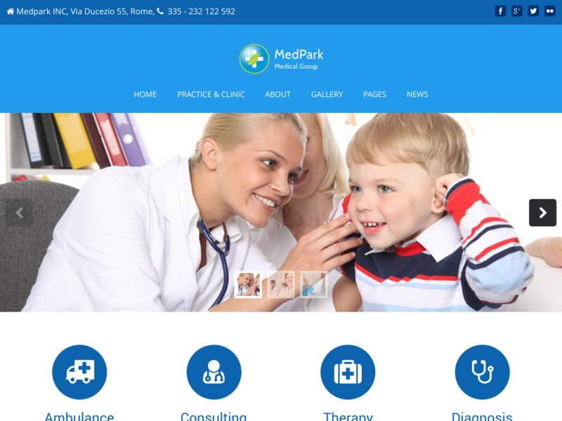 Medpark company WordPress theme