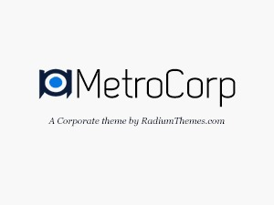 MetroCorp company WordPress theme