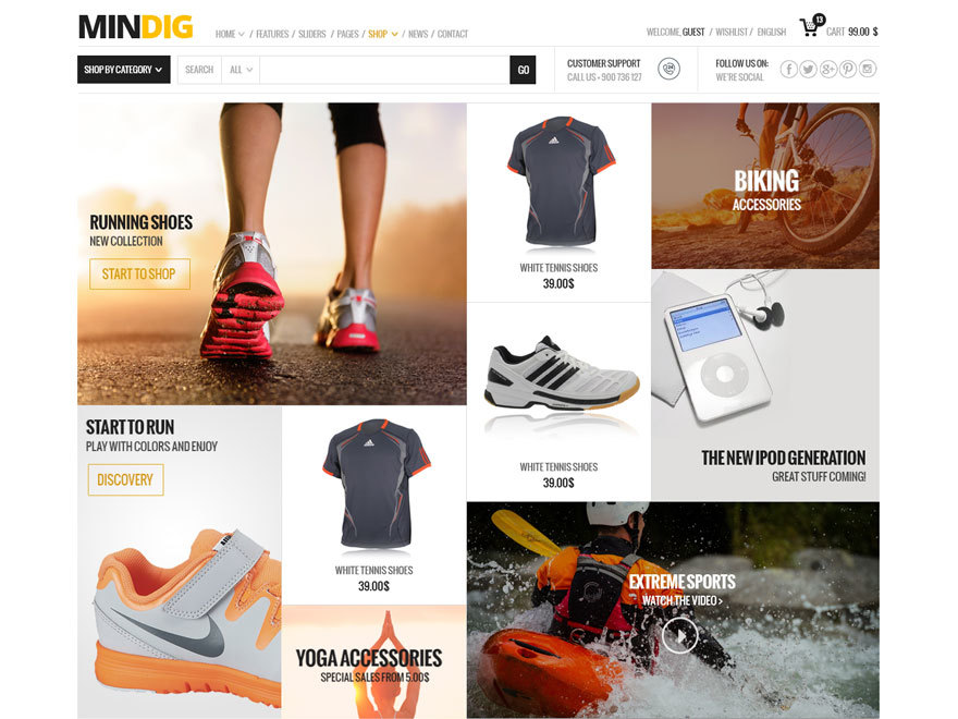 Mindig Child WordPress shop theme