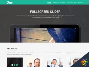 One Pager personal WordPress theme
