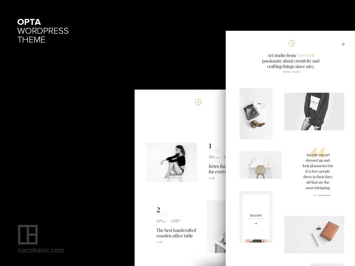 Opta WP theme WordPress
