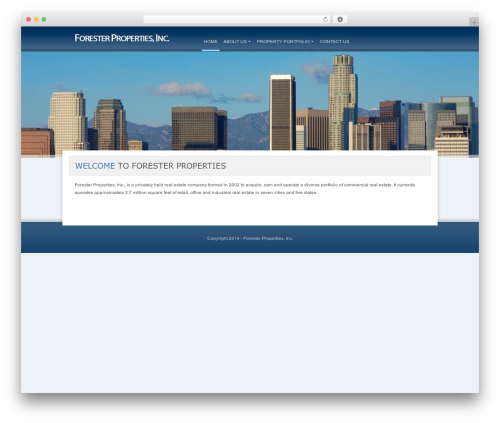 Panacea personal WordPress theme - foresterproperties.com