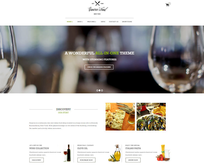 Panarea WordPress ecommerce theme