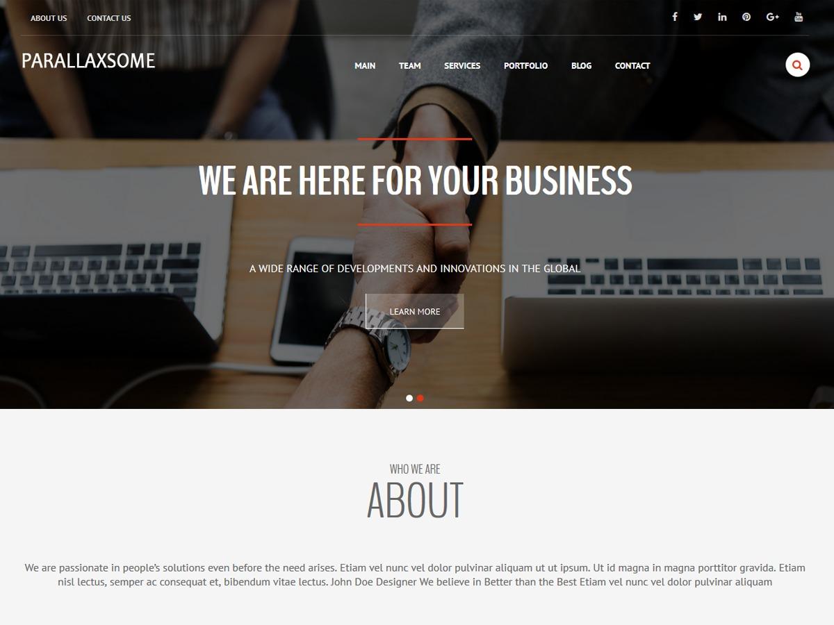ParallaxSome personal WordPress theme