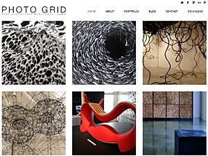 PhotoGrid Free Responsive Theme WordPress page template
