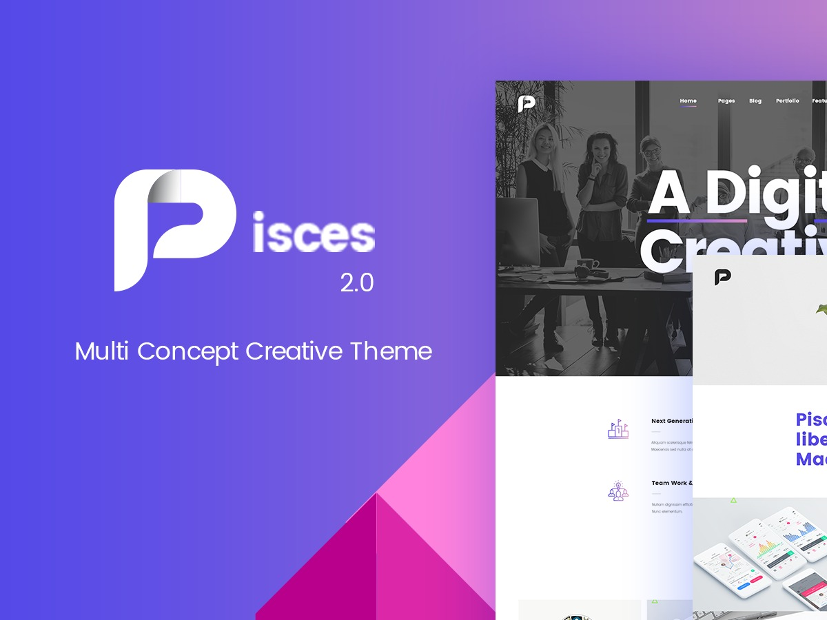 Pisces WordPress photo theme