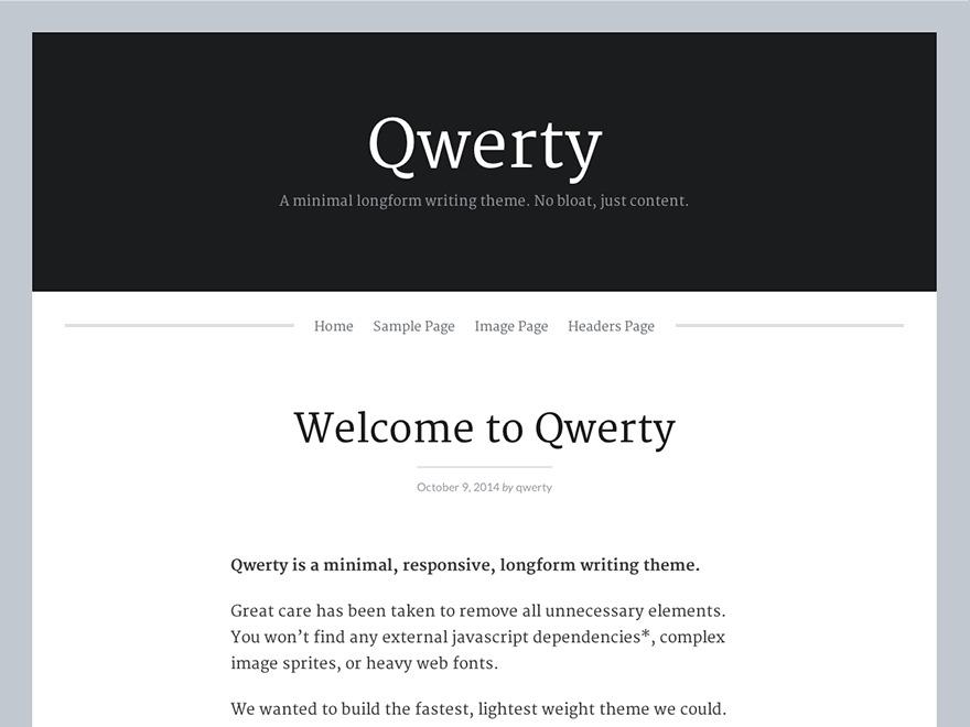 Qwerty WordPress theme