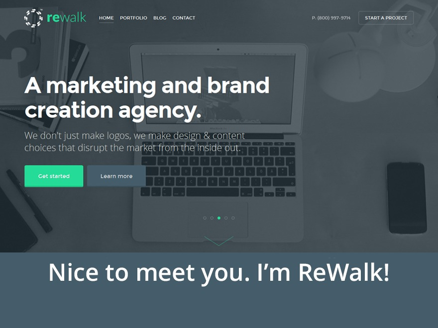 ReWalk Parent company WordPress theme