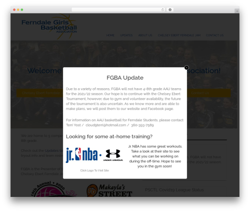 Rise theme WordPress - ferndalegirlsbasketball.com