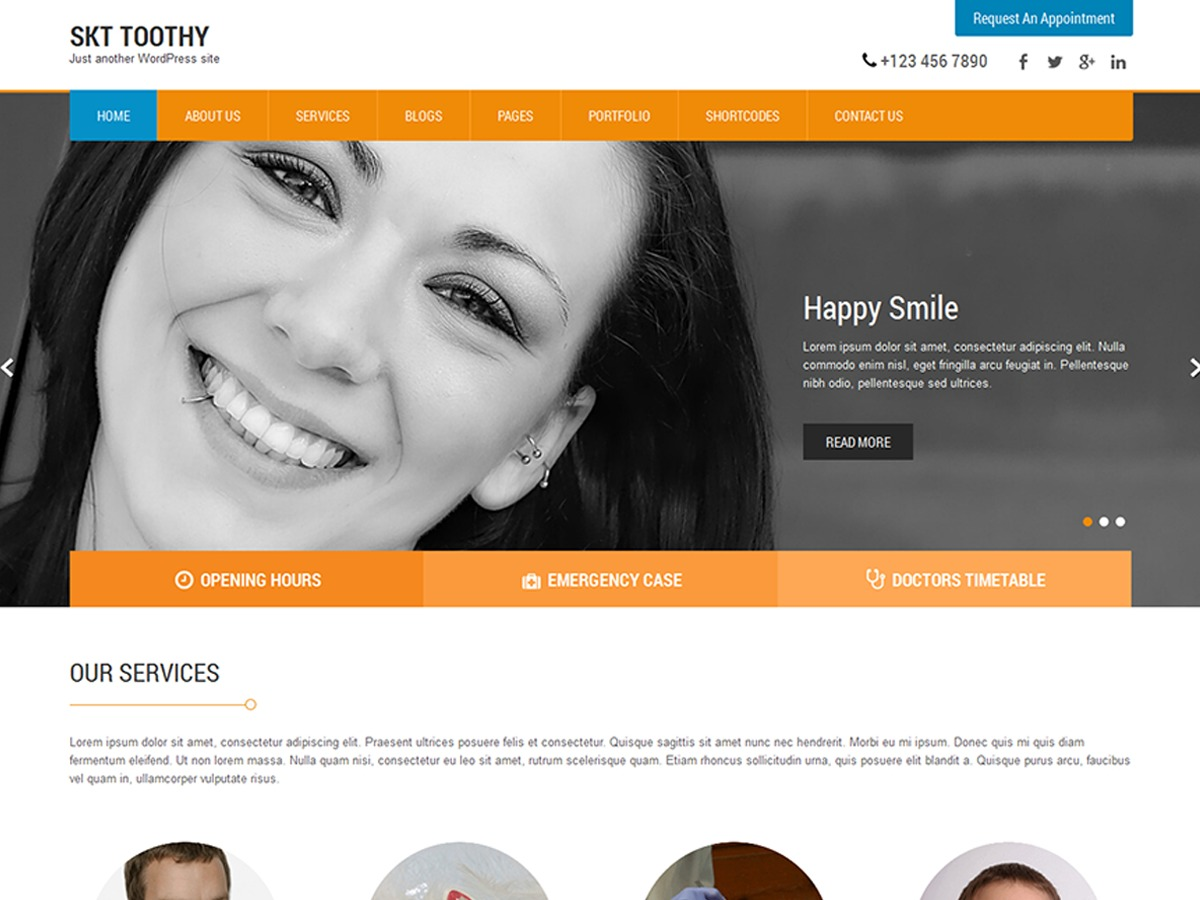 SKT Toothy theme WordPress free