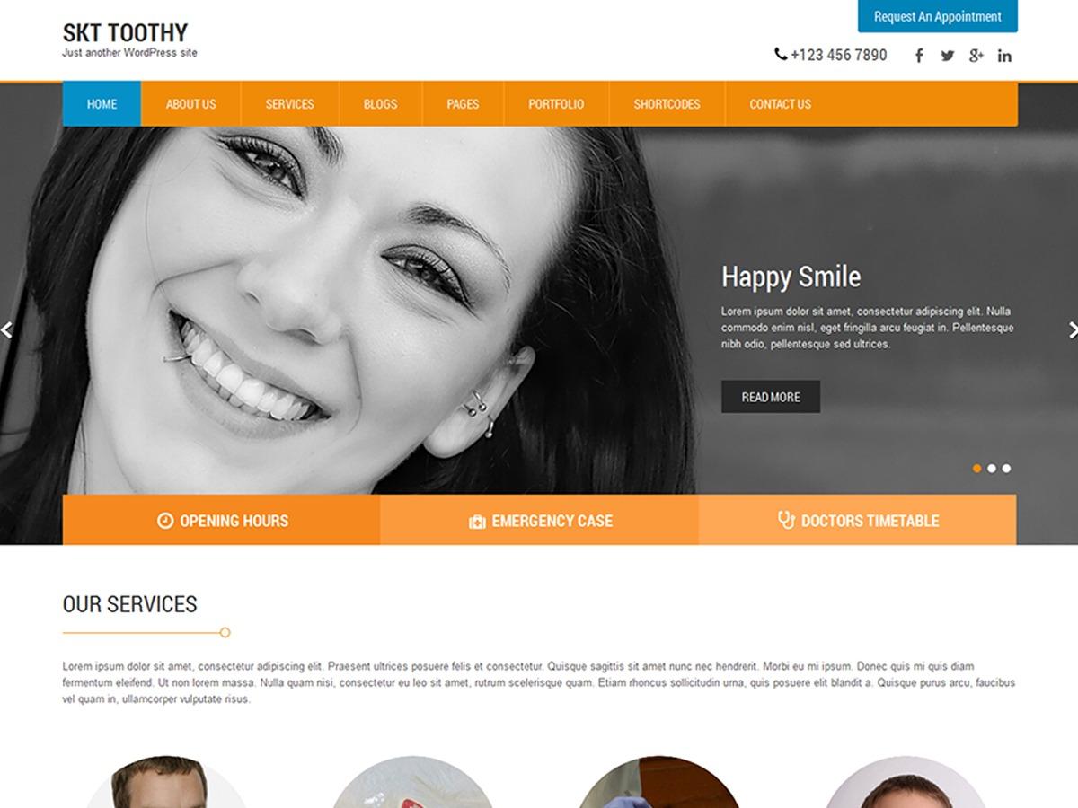 SKT Toothy theme WordPress free