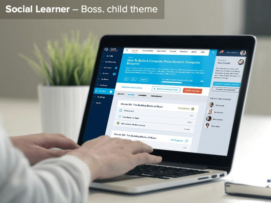 Social Learner WP template
