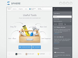 Sphere WP theme
