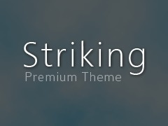 Striking WordPress theme