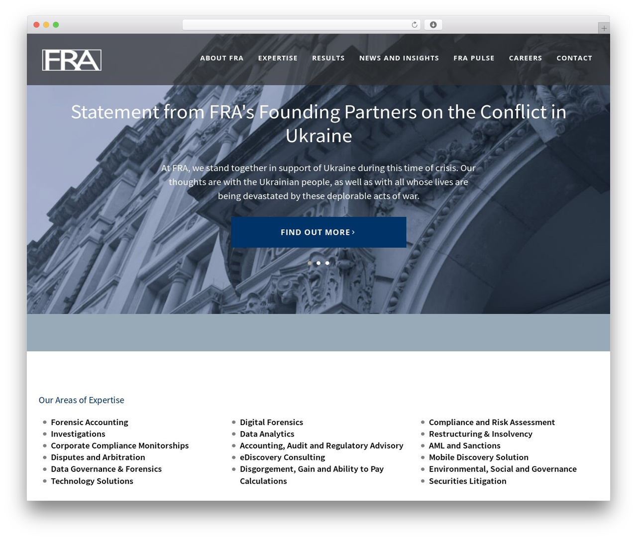 Template WordPress FRA Theme - forensicrisk.com