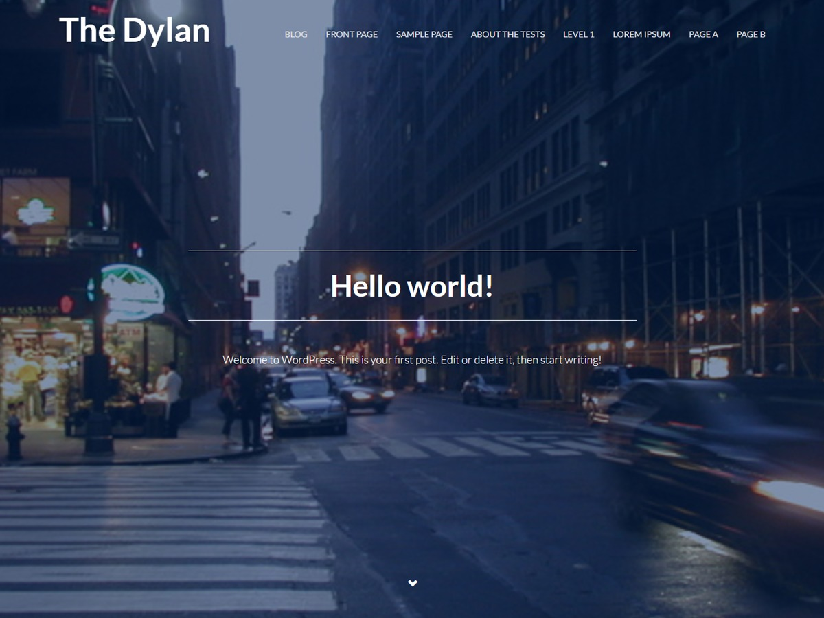 The Dylan WordPress theme free download