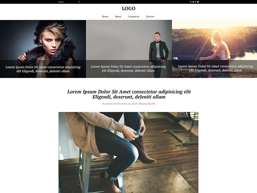 The Fash Blog theme WordPress free