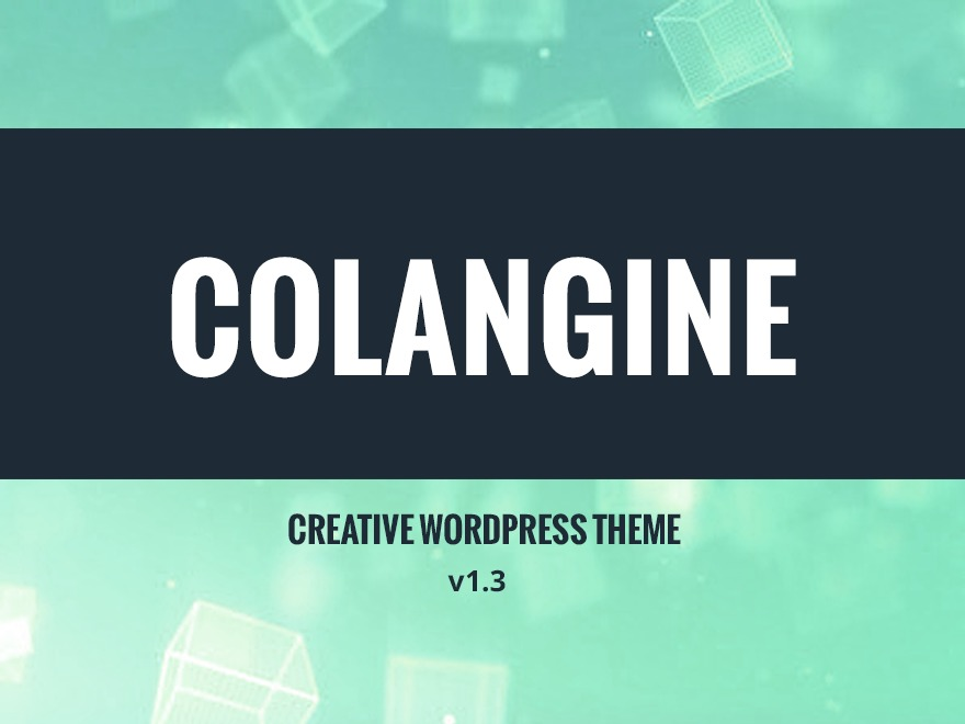 Theme WordPress Colangine