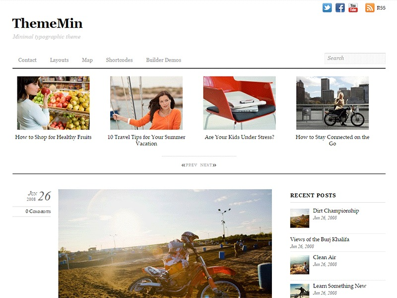 ThemeMin top WordPress theme