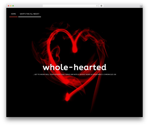 Timeliner WordPress theme - whole-hearted.me