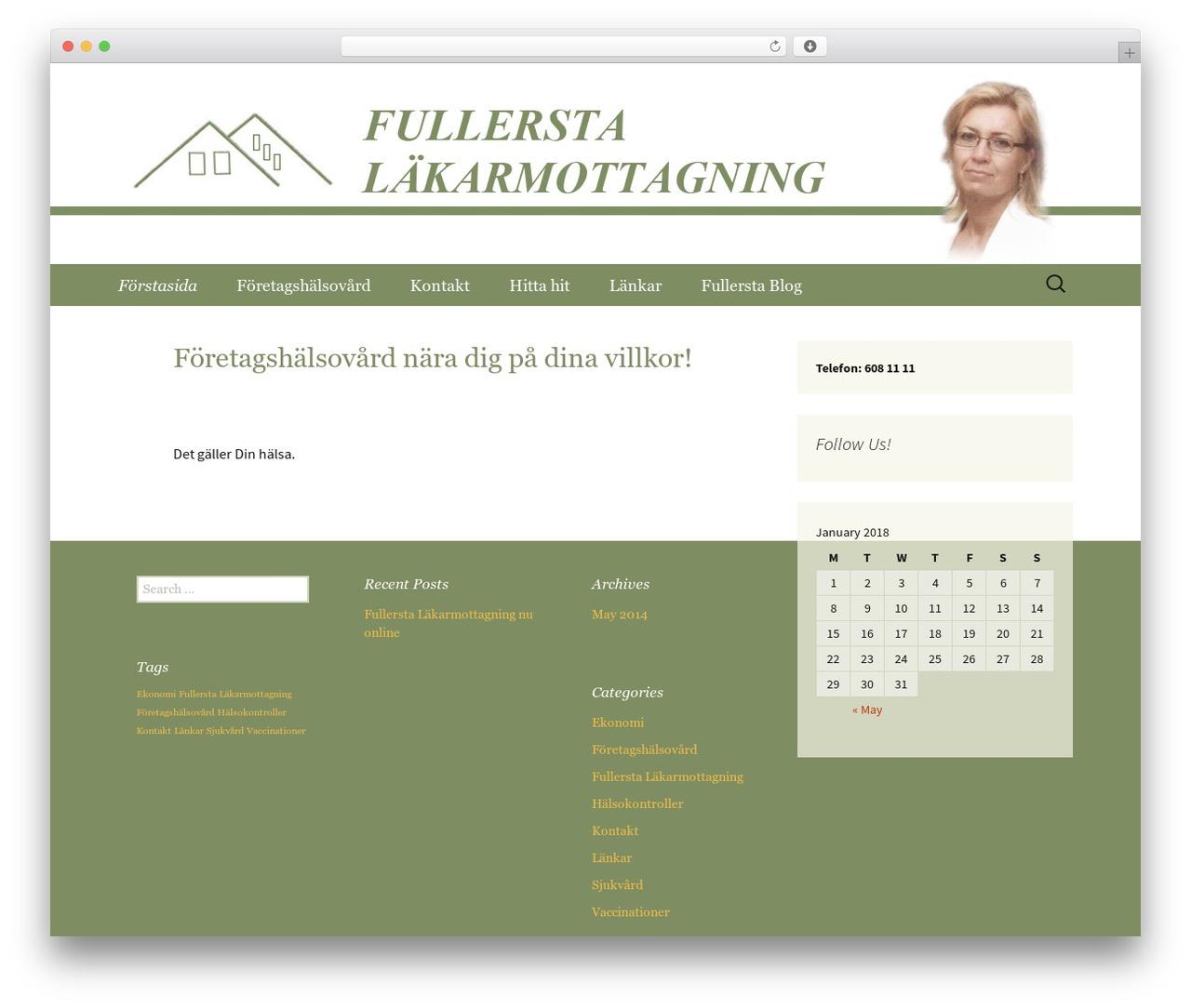 Twenty Thirteen WordPress website template - fullersta.net