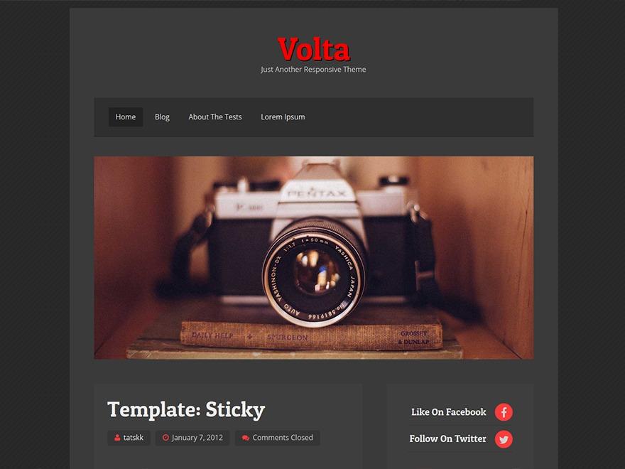 volta WordPress theme