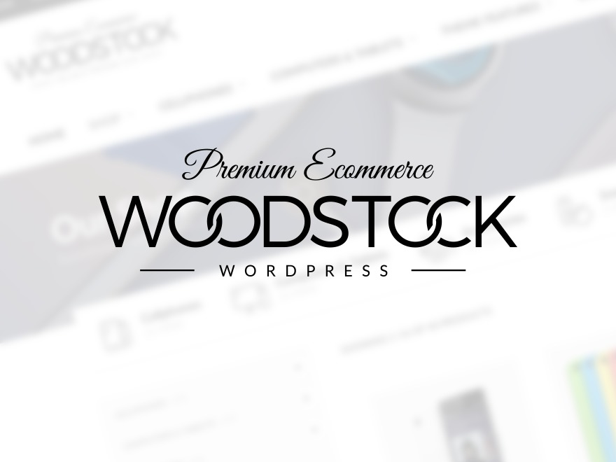 Woodstock WordPress shopping theme