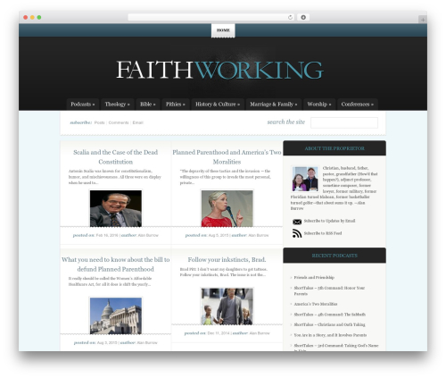WordPress theme childTheme - faithworking.com
