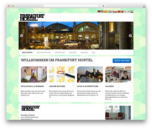 WordPress website template Neo - frankfurt-hostel.com