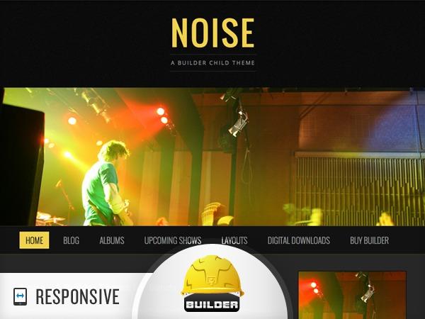 WordPress website template Noise