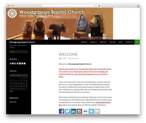 WP template Twenty Fourteen - woodgrangebaptist.org.uk
