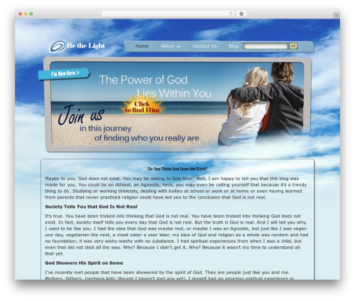 bethelight WordPress theme - isgodrealforyou.com
