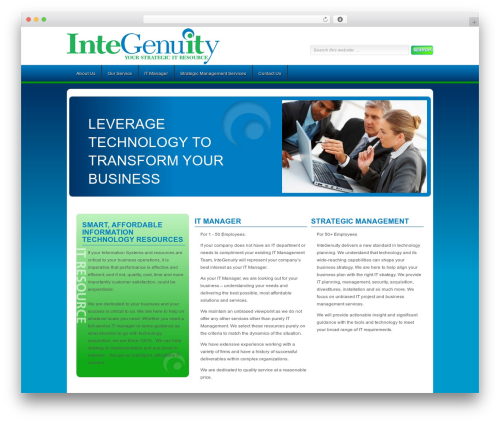 Enterprise Child Theme WordPress page template - integenuity.com