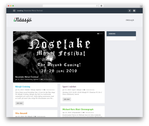 Extra WordPress theme - inassjo.se