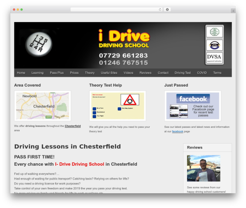Gridiculous free WordPress theme - i-drive-drivinglessonschesterfield.uk