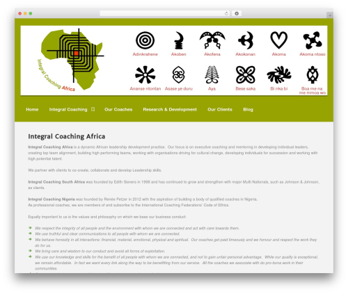 Memorable top WordPress theme - integralcoachingafrica.net