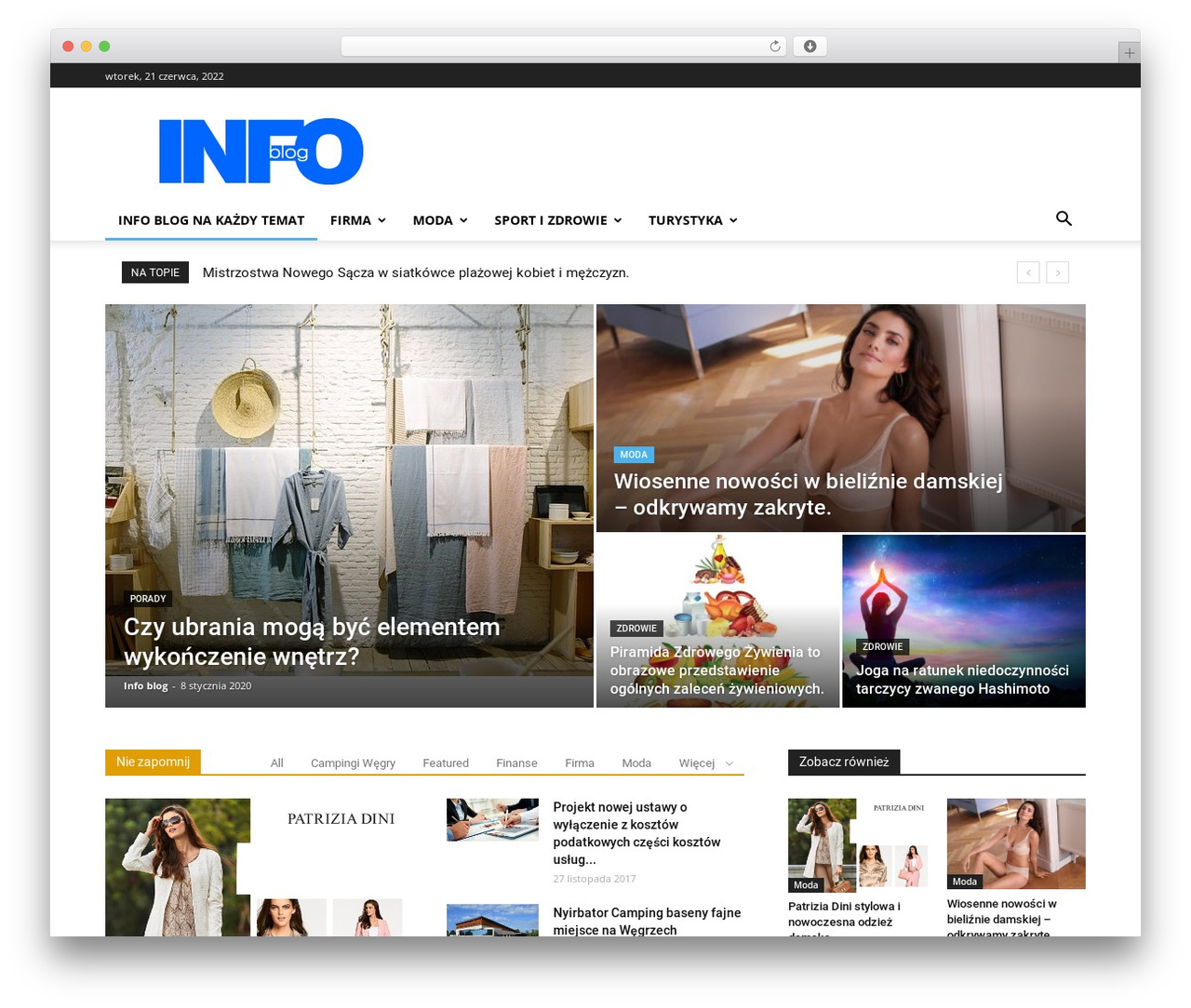 Newspaper newspaper WordPress theme - info-blog.pl