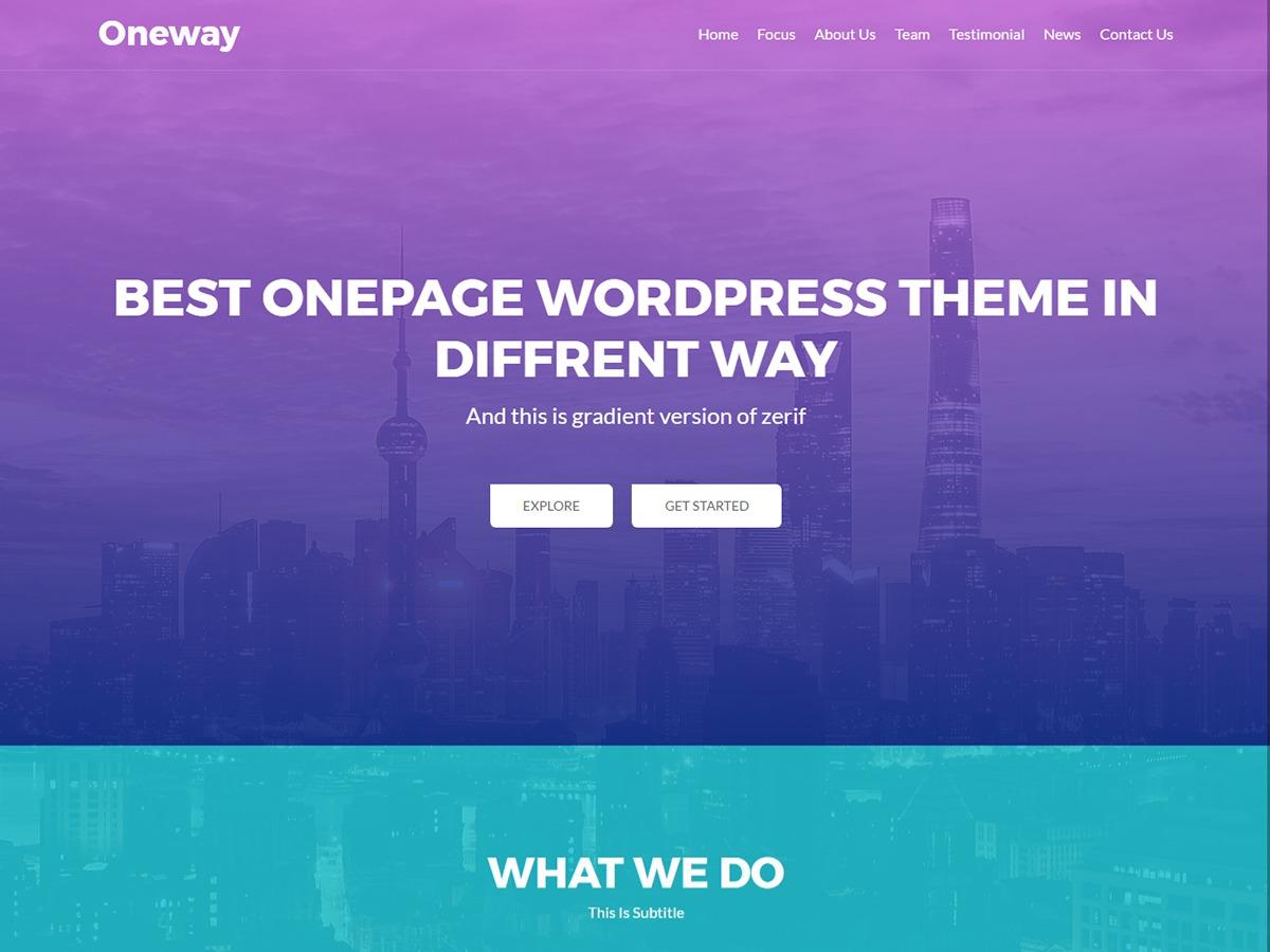 oneway WordPress free download