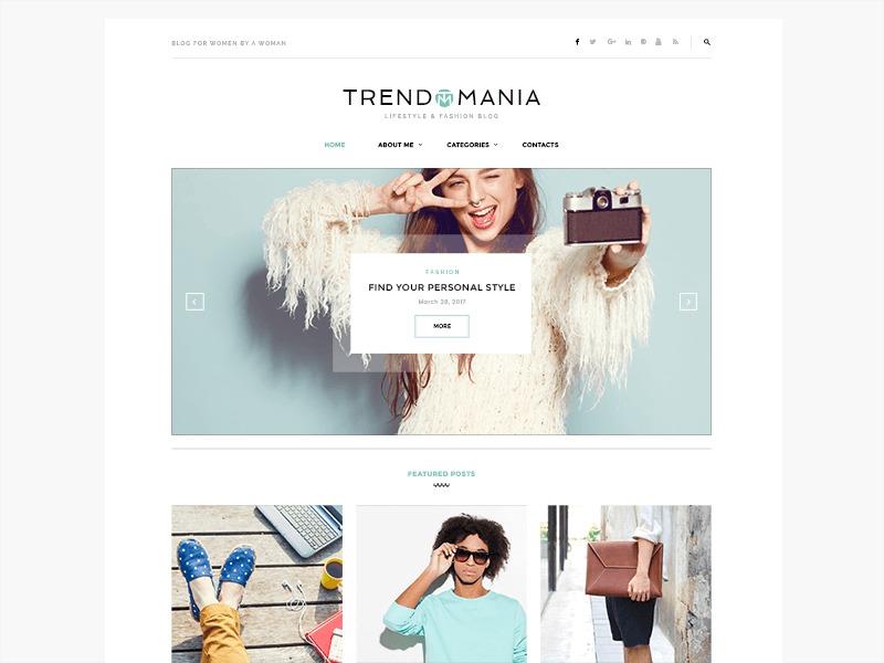 Trendomania fashion WordPress theme