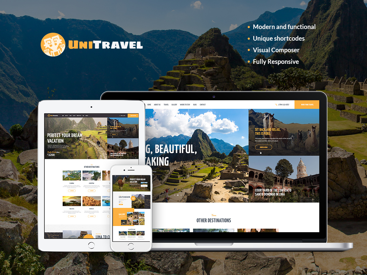 UniTravel WordPress blog theme