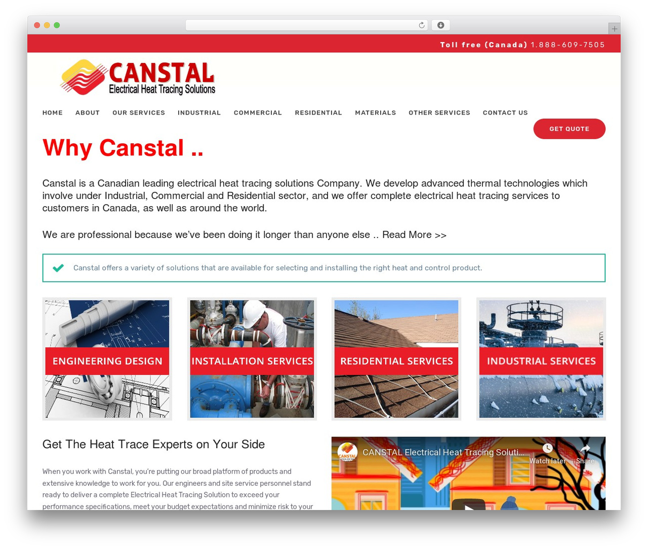 UpScale WordPress page template - canstal.ca
