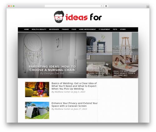 WordPress theme Hot Topix - ideasfor.com.au
