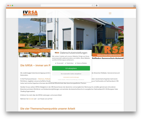 Betheme WordPress website template - ivrsa.de