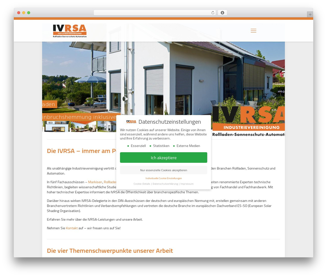 Betheme WordPress website template - ivrsa.de