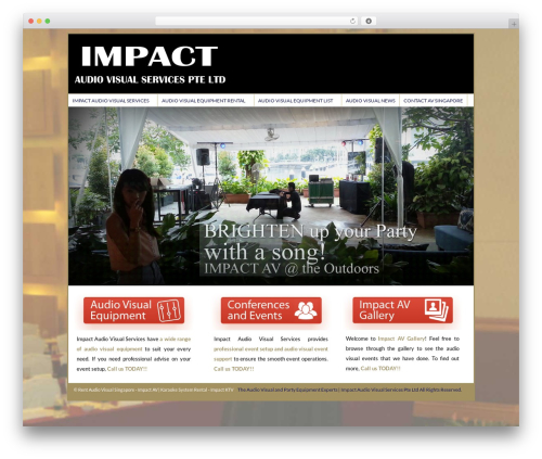 Catalyst premium WordPress theme - impactav.sg