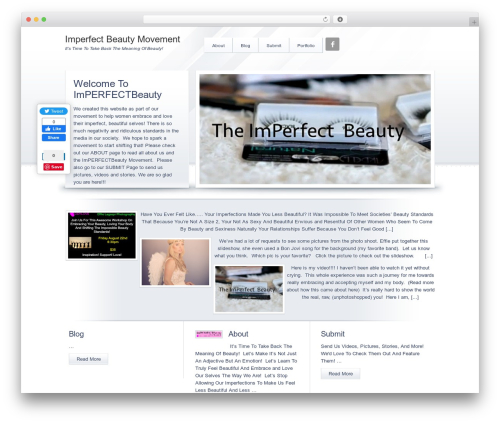 Crystal Child Theme theme WordPress - imperfectbeautymovement.com